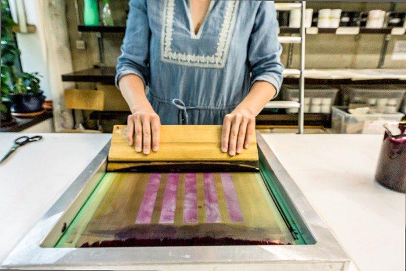Impressão em silk screen sp